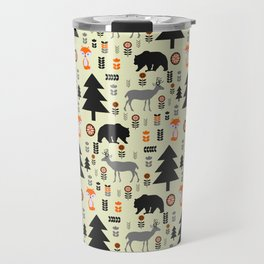 Winter bears, foxes and deer Travel Mug