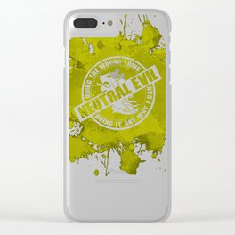 d20 Neutral Evil Alignment Clear iPhone Case