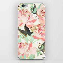 Floral Cranes iPhone Skin