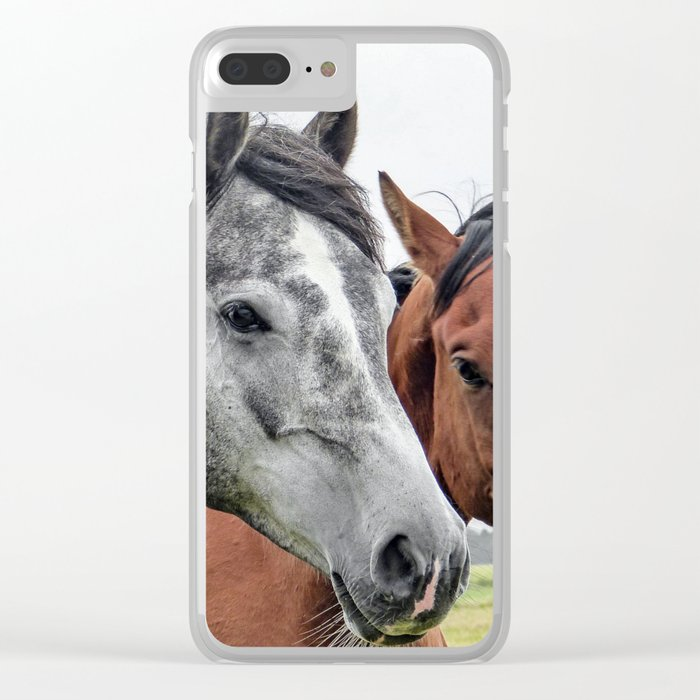 Three Horses Clear iPhone Case