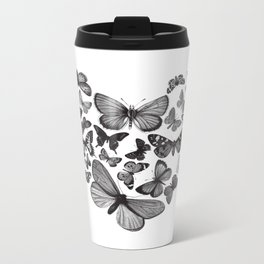 BUTTERFLY LOVE MONO Metal Travel Mug
