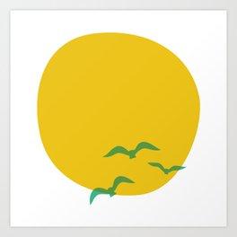 Midsummer Sun Art Print