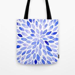 Watercolor brush strokes - blue Tote Bag