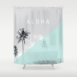 Island vibes retro - Aloha Shower Curtain
