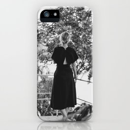 Woman in a Black Dress iPhone Case