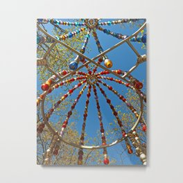 Colourful Canopy Metal Print