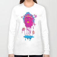 medusa Long Sleeve T-shirts featuring Medusa by Mario Sayavedra