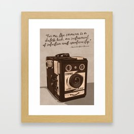 Intuition and Spontaneity Framed Art Print
