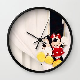 Mickey and Minnie Mouse Wall Clock