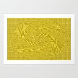 Patterns Yellow Art Print