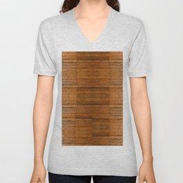 Rustic Wooden Boards I - Photo-sampled Wood Boards Unisex V-Neck