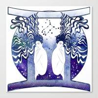 gemini Canvas Prints featuring Gemini by Stevyn Llewellyn