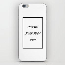 Punk Rock iPhone Skin