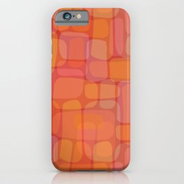 Organic Layered Bricks in Berry & Citrus Hues (pattern) iPhone Case