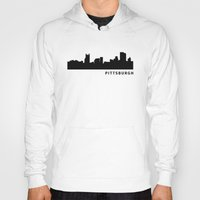 pittsburgh Hoodies featuring Pittsburgh by Fabian Bross