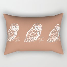 Barn Owl Art Rectangular Pillow