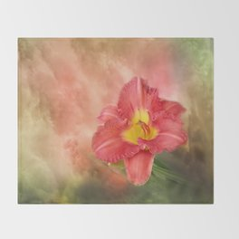 Beautiful day lily Throw Blanket