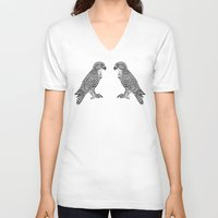 falcon V-neck T-shirts featuring Falcon by LegendOfZeldy