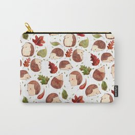 Autumn Hedgehogs Carry-All Pouch