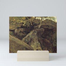 Jacob Maris - Landschap met rotsen, Fontainebleau Mini Art Print