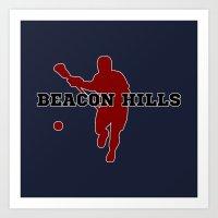 lacrosse Art Prints featuring Beacon Hills Lacrosse by Keyweegirlie