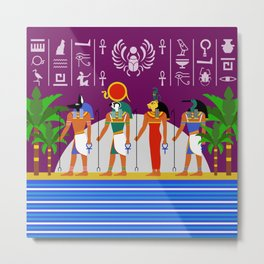 Egyptian Night Metal Print