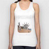 planet of the apes Tank Tops featuring Spaceballs: Planet of the Apes by Preston Porter