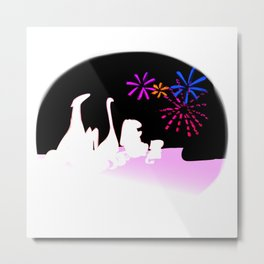 Fireworks in August Metal Print