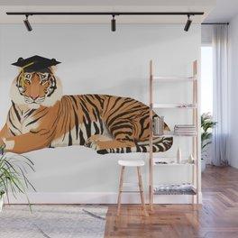 Graduation Tiger Wall Mural