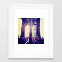 brooklyn Framed Art Prints featuring Brooklyn by April Gann