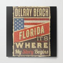 Delray Beach Florida Metal Print