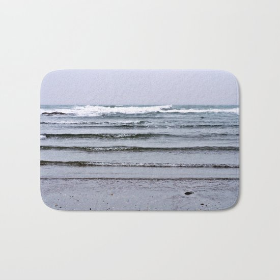 Winter Rippling Waves Bath Mat