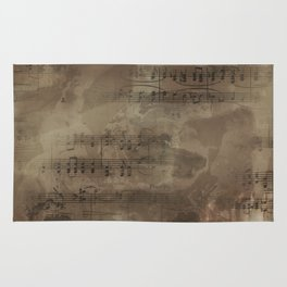 Sheet Music - Mixed Media Partiture #4 Rug