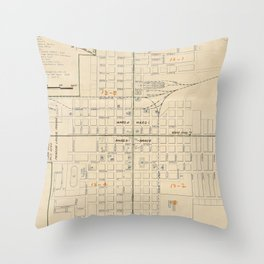 Vintage map of Carson City NV (1940) Throw Pillow