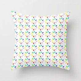 Circle and abstraction 12- multicolor, abstract,geometric,geometrical,circle,sphere Throw Pillow