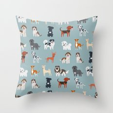 MEDITERRANEAN DOGS Throw Pillow