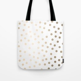 Simply Dots in White Gold Sands Tote Bag