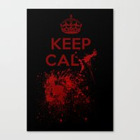 keep calm Canvas Prints featuring Keep calm? by Eveline