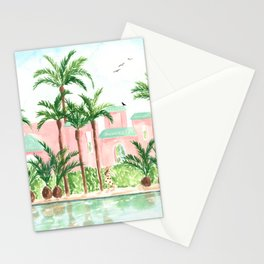 Pink Hotel Stationery Cards
