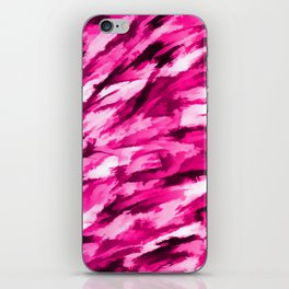 Hot Pink Designer Camo iPhone Skin
