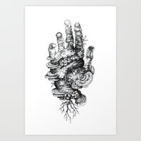 dead Art Prints featuring Dead Hand by Mister Beaudry
