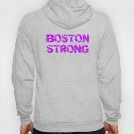 Support BOSTON STRONG Purple Grunge Hoody