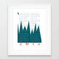 calendar 2015 Framed Art Prints featuring Calendar Mountain 2015 by Cristina Cavallari