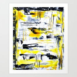 Bumble Bee Abstraction Art Print