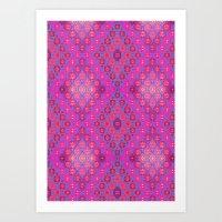 kilim Art Prints featuring Kilim 4 by EllaJo