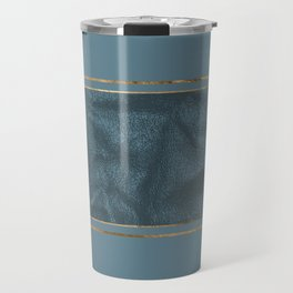 Blueprint and Leather texture Travel Mug