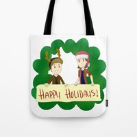 supernatural Tote Bags featuring Supernatural by Brittany's Drawings and Doodles