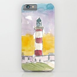 Eilean Glas Lighthouse at Sunset in Scotland iPhone Case