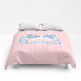 Light Pink and Soft Blue Sock Monkeys Comforters