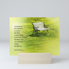 Serenity Prayer Bench Mini Art Print